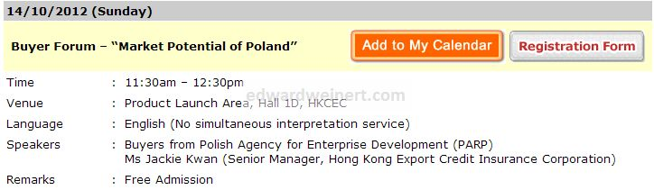 "Buyer Forum – ""Market Potential of Poland"""