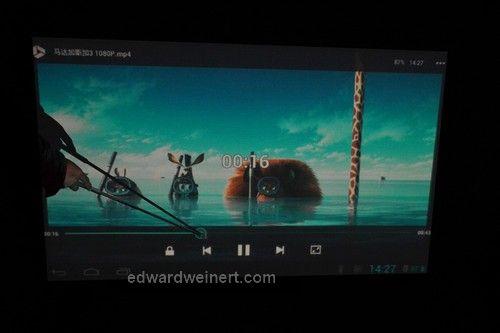 SmartQ U7 sterowanie odtwarzaniem filmu