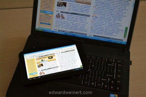 SmartQ U7 - obraz z laptopa