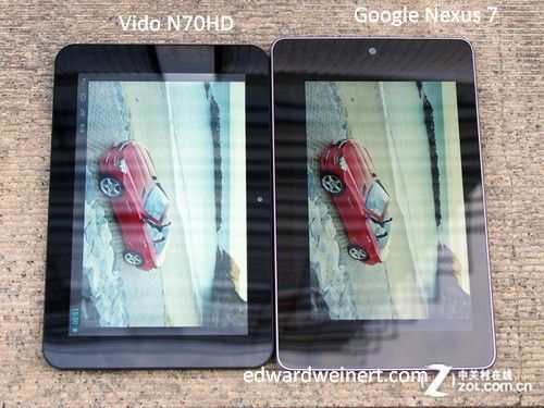 Vido N70HD vs Google Nexus 7