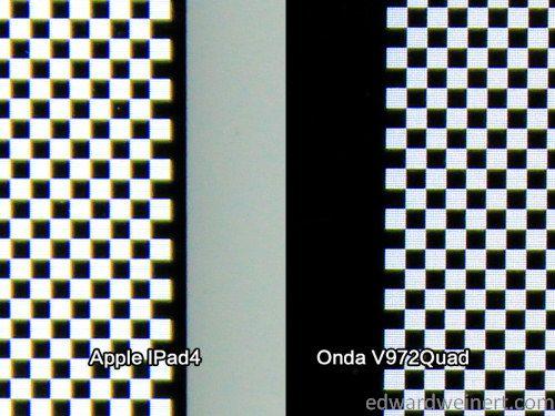Onda V972 vs iPad4 6