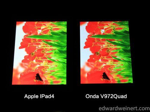 Onda V972 vs iPad4 7