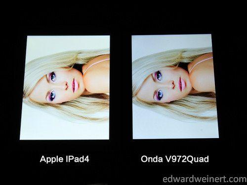 Onda V972 vs iPad4 8