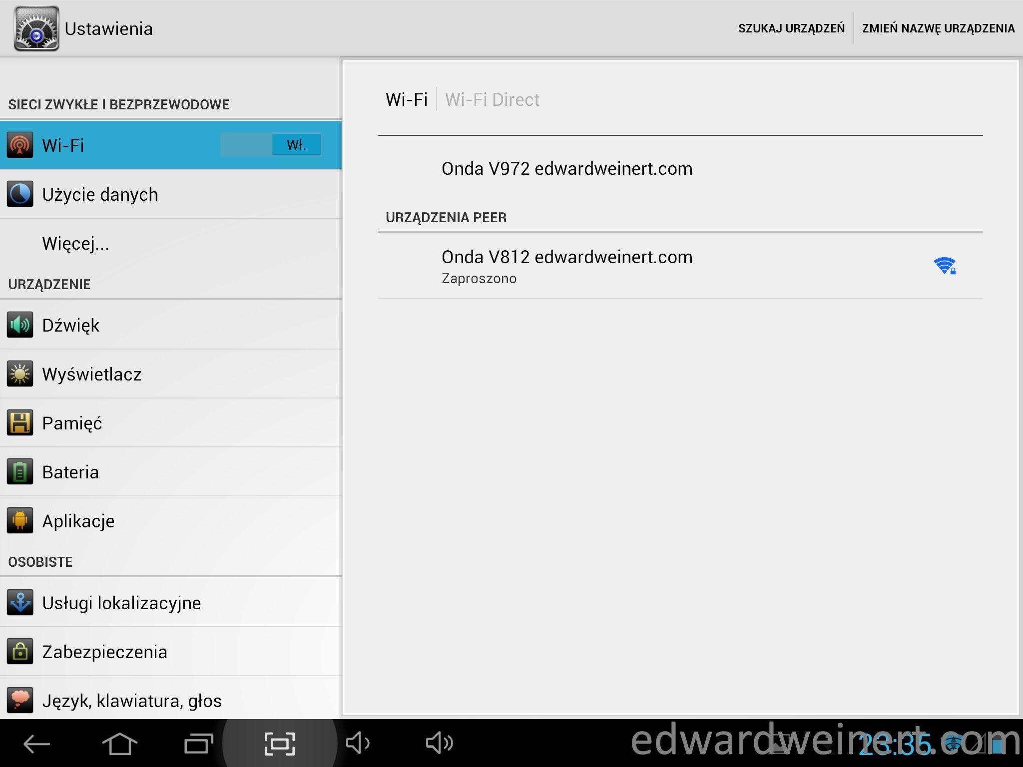 Onda V972 WiFi Direct 2