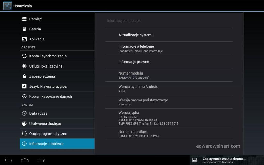 Shiru Samurai 10 Power firmware screenshot