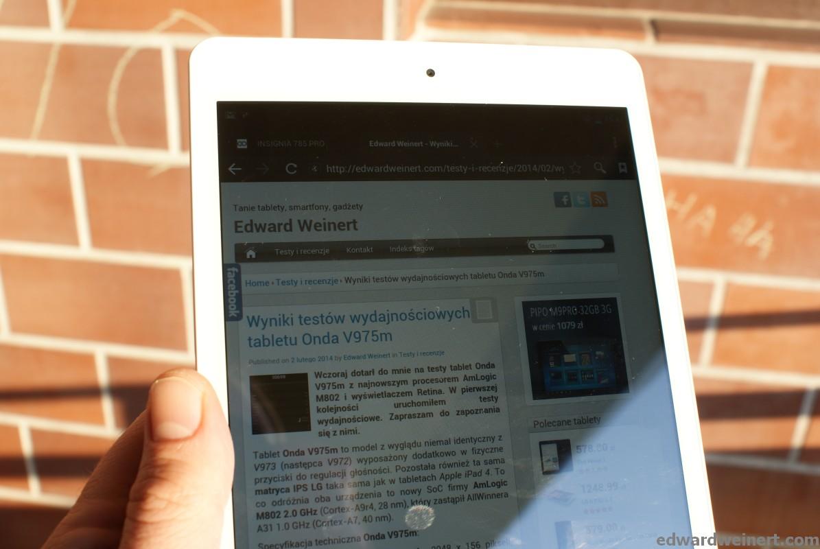 Recenzja tabletu GoClever Insignia 785 Pro z procesorem Intel Atom i GPS